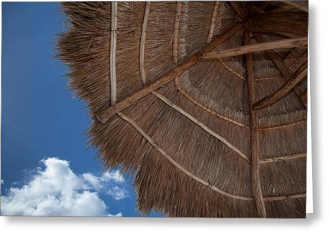Thatched Umbrella Greeting Card