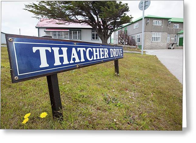 Thatcher Drive In Port Stanley Greeting Card by Ashley Cooper