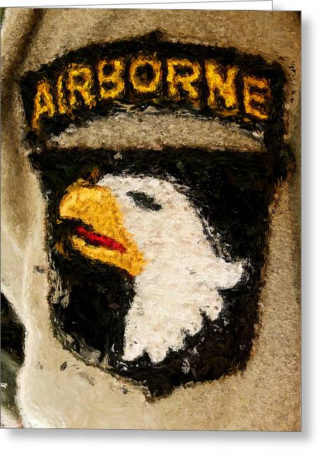The 101st Airborne Emblem Painting Greeting Card