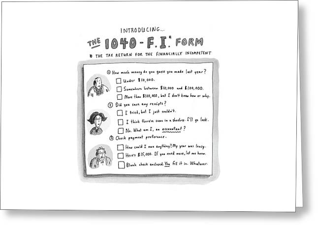 The 1040-f.i.* Form Greeting Card