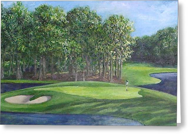 The 10th At Meadow Brook Golf Club Greeting Card by Annie St Martin
