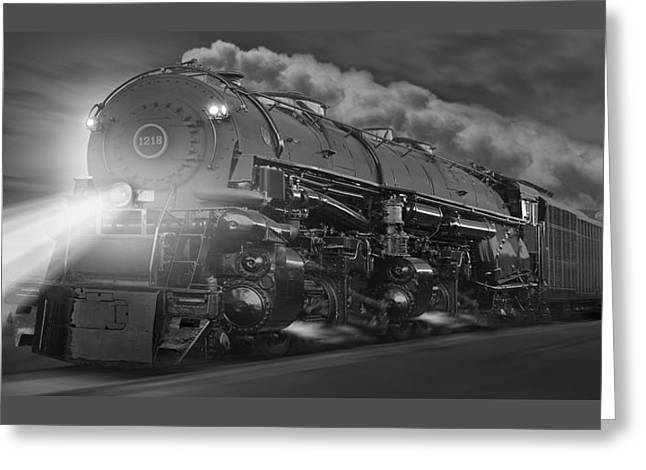 The 1218 On The Move - Panoramic Greeting Card by Mike McGlothlen