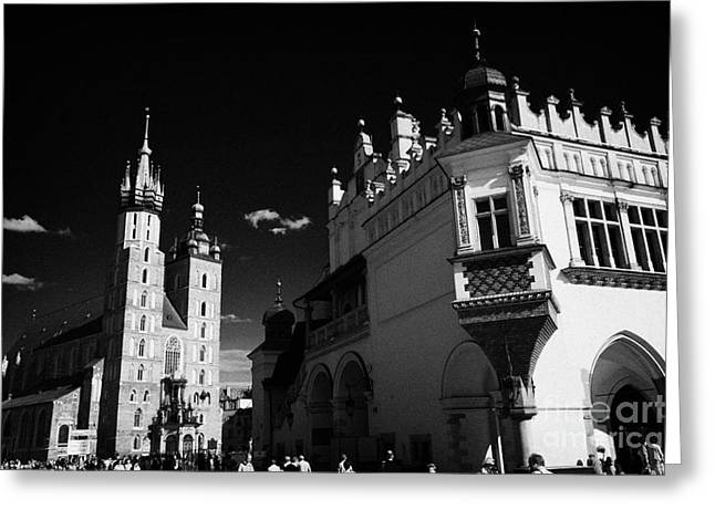 The 16th Century Cloth Hall Sukiennice Building And 14th Century Gothic  Basilica Of The Virgin Mary by Joe Fox