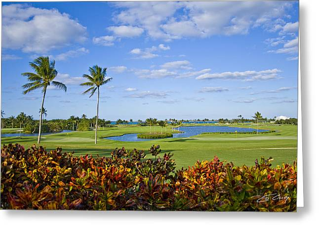The 18th Green At Ocean Club Golf Course Greeting Card