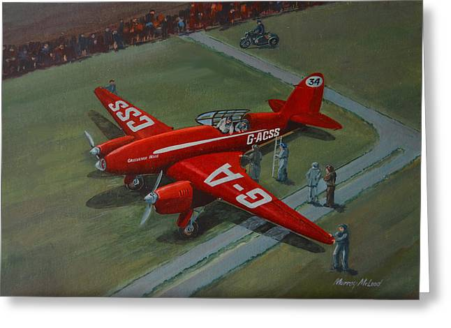 The Great Air Race Greeting Card by Murray McLeod