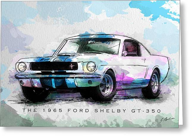The 1965 Ford Shelby Gt 350  Greeting Card