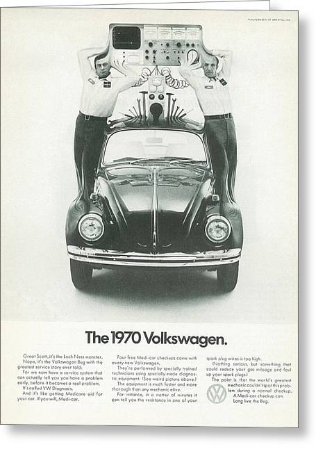 The 1970 Volkswagen Greeting Card