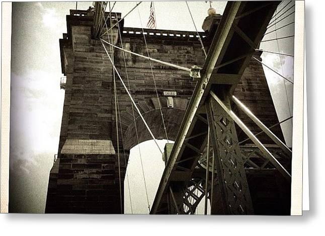 The 1st brooklyn Bridge Greeting Card