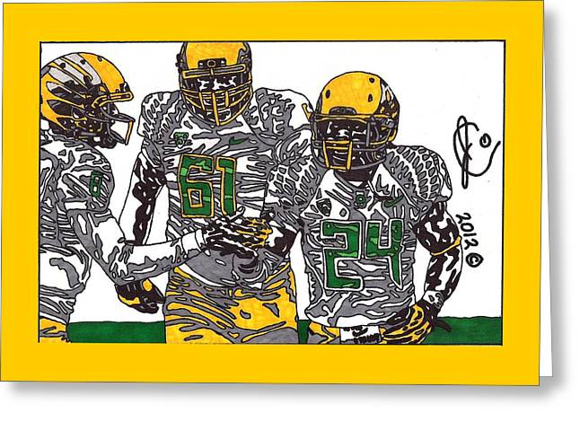 The 2012 Ducks Greeting Card by Jeremiah Colley