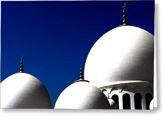 The 3 Domes Greeting Card by Peter Waters