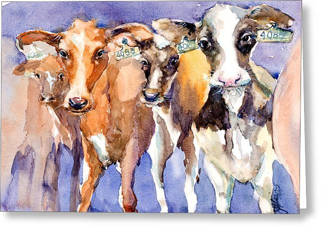 The 408 Girls Greeting Card by Judith Levins