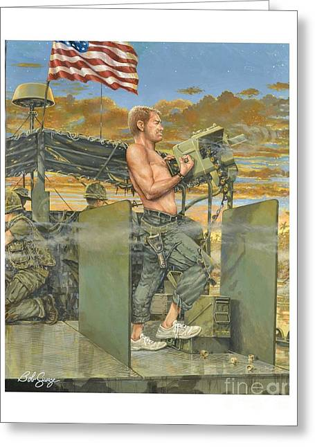 The 458th Transortation Co. In Vietnam. Greeting Card