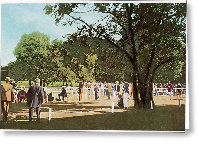 The 500 Metre Race Is Run In  The Bois Greeting Card by Mary Evans Picture Library