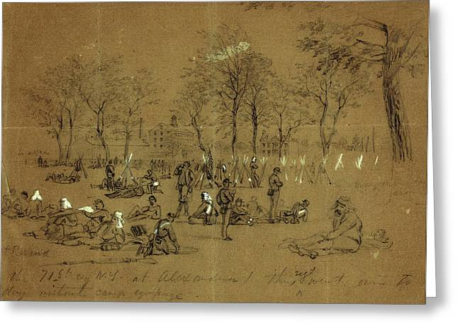 The 71st Reg. N.y. At Alexandria, 1861 May 24-31 Greeting Card by Quint Lox