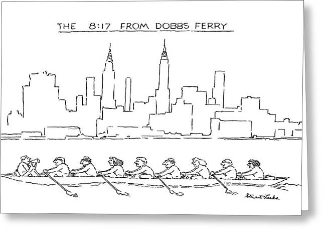 The 8:17 From Dobbs Ferry Greeting Card