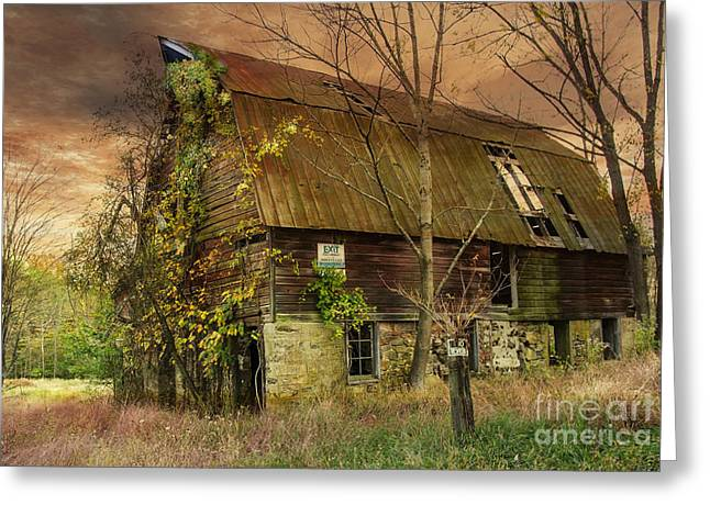 The Abandoned Barn Greeting Card