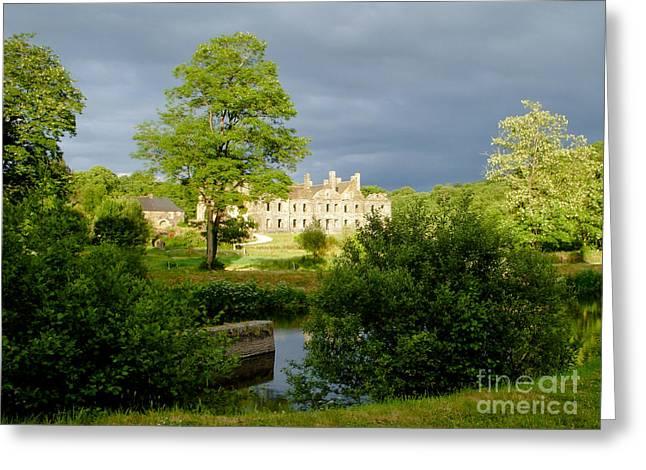 The Abbey Of Bon Repos Greeting Card by Carol Weitz