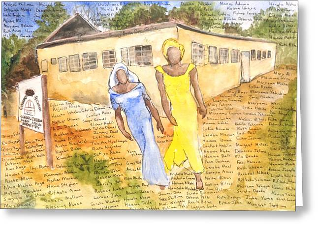 The Abducted Girls Of Chibok Greeting Card