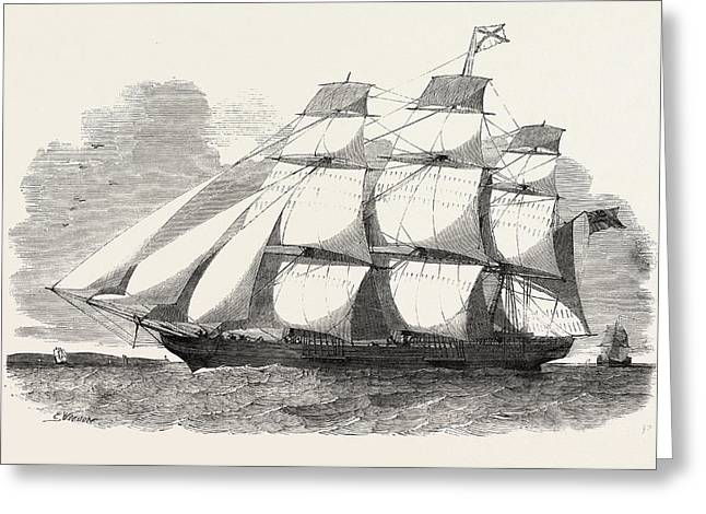 The Abergeldie, Aberdeen Clipper Is A Ship Of 600 Tons Greeting Card