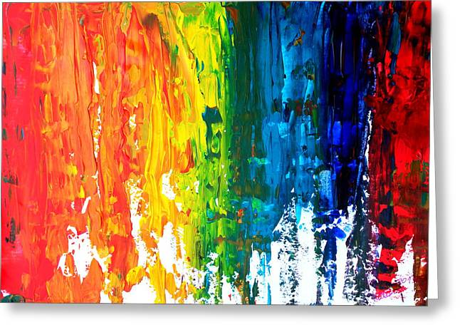 The Abstract Rainbow Beach Series I Greeting Card by M Bleichner
