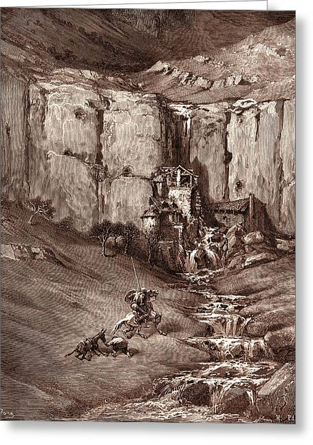The Adventure Of The Fulling-mills, By Gustave Dore Greeting Card