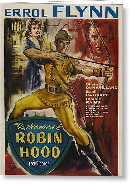 The Adventures Of Robin Hood  Greeting Card by Movie Poster Prints