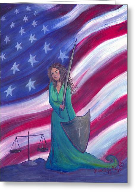 The Advocate Greeting Card by Beckie J Neff