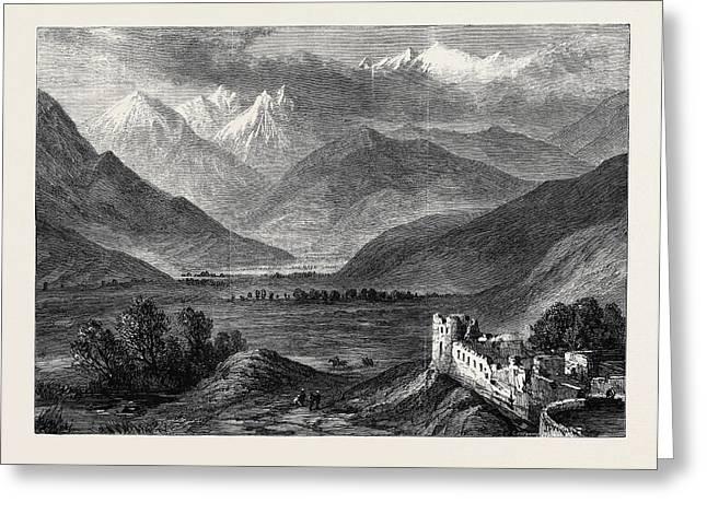 The Afghan War Noahs Valley Kunar River 1879 Greeting Card by English School