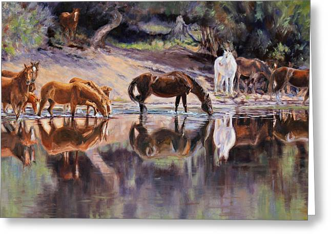 The Afternoon Drink Painting By Karen Mclain