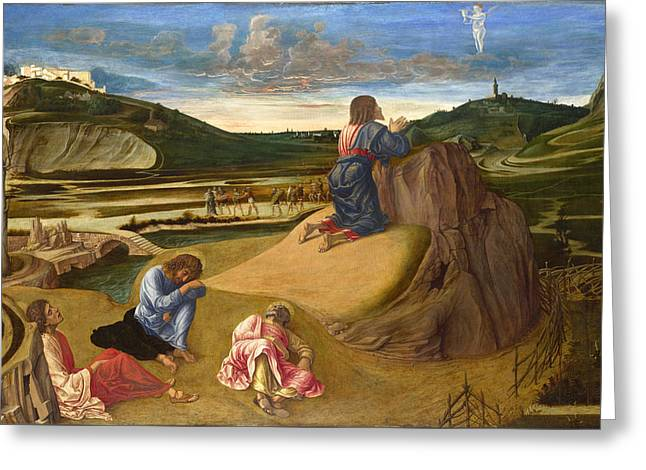 The Agony In The Garden Greeting Card by Giovanni Bellini