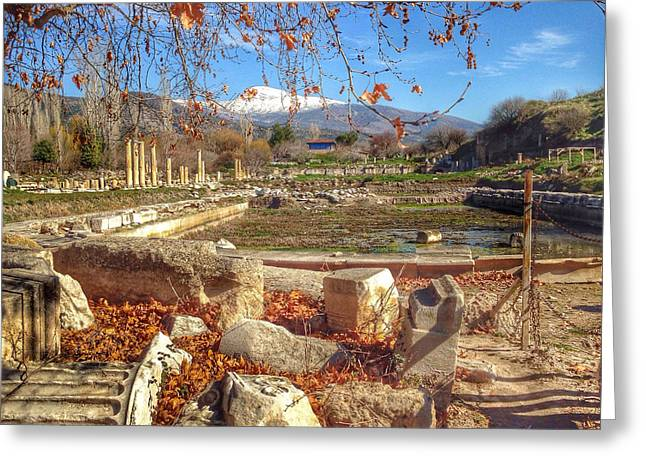 The Agora At Aphrodisias Greeting Card by Auntieblues