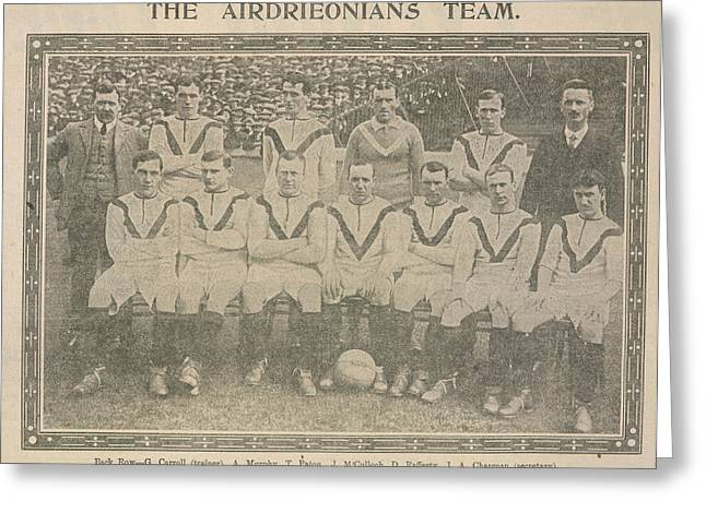 The Airdrieonians Team Greeting Card