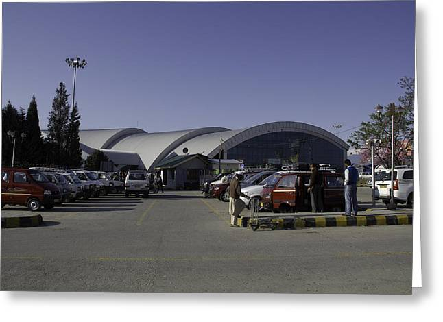The Airport In Srinagar The Capital Of Jammu And Kashmir Greeting Card by Ashish Agarwal