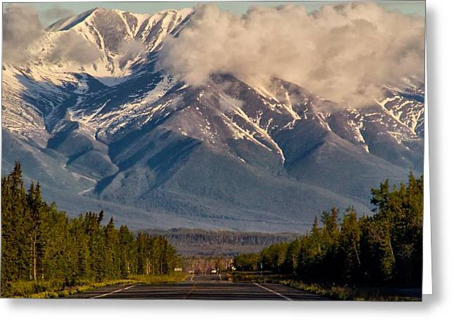 The Alaska Highway Tok Junction Alaska Greeting Card