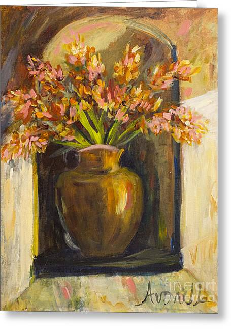 Greeting Card featuring the painting The Alcove by Avonelle Kelsey