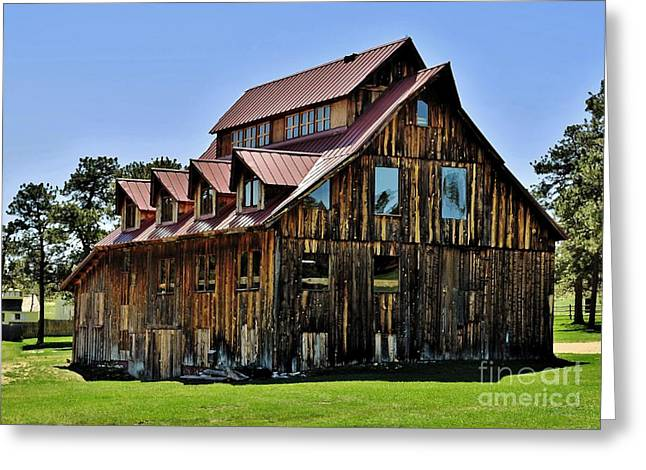 The Aldefer Barn Greeting Card by Leianne Wilson