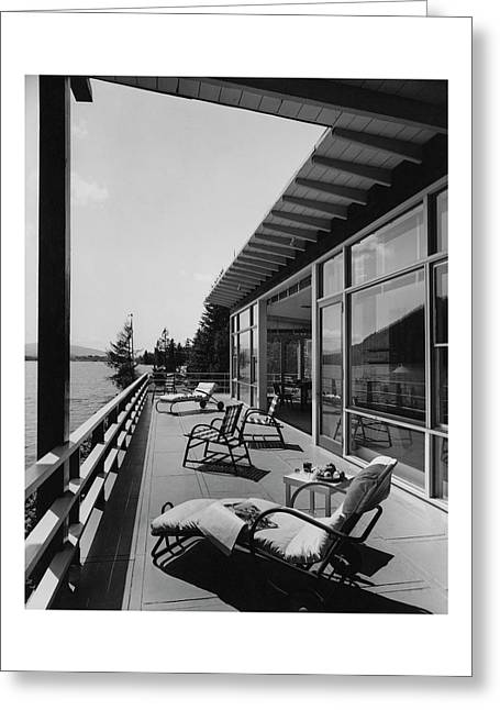 The Alfred Rose Lake Placid Summer Home Greeting Card