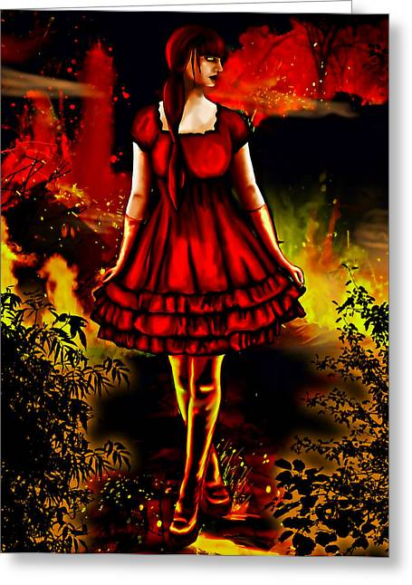 The Alice Girl Greeting Card