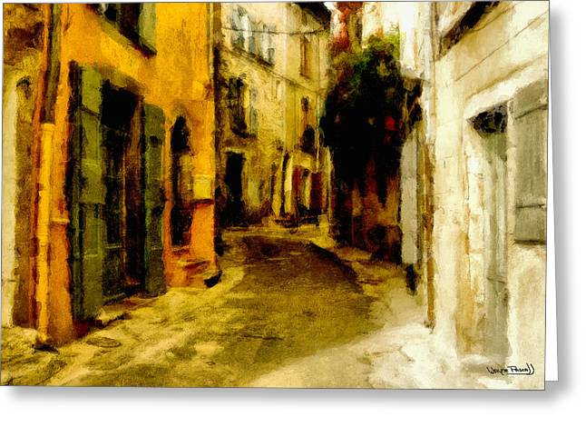 The Alley Greeting Card by Wayne Pascall
