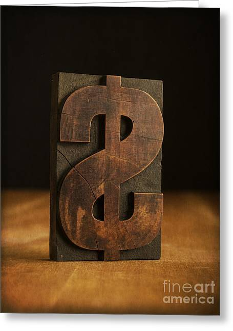 The Almighty Dollar Greeting Card by Edward Fielding