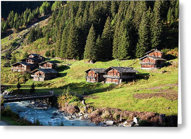 The Alp Schild Alm In East Tyrol Greeting Card
