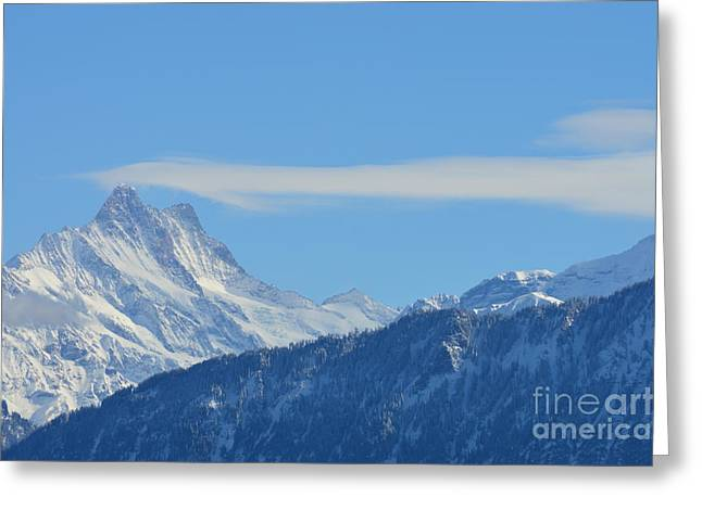 The Alps In Azure Greeting Card