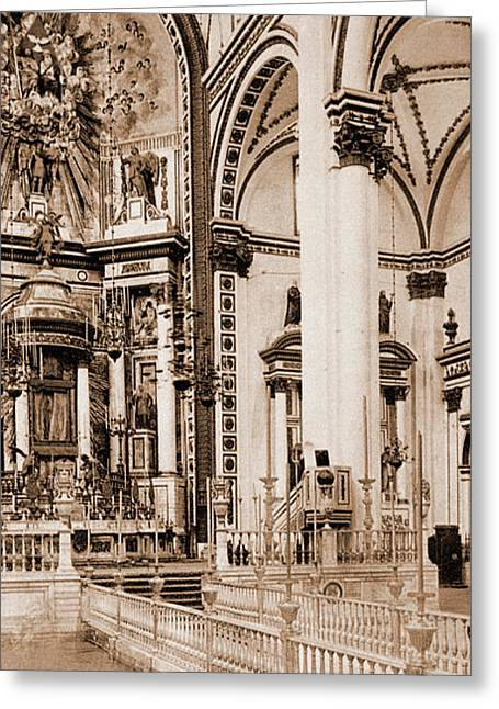 The Altar, Church Of Guadaloupe, The Cathedral, City Greeting Card