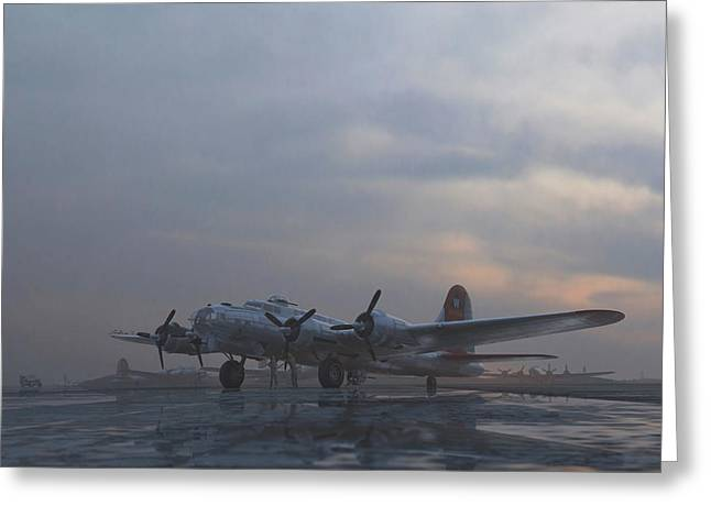The Aluminum Overcast Greeting Card by Hangar B Productions