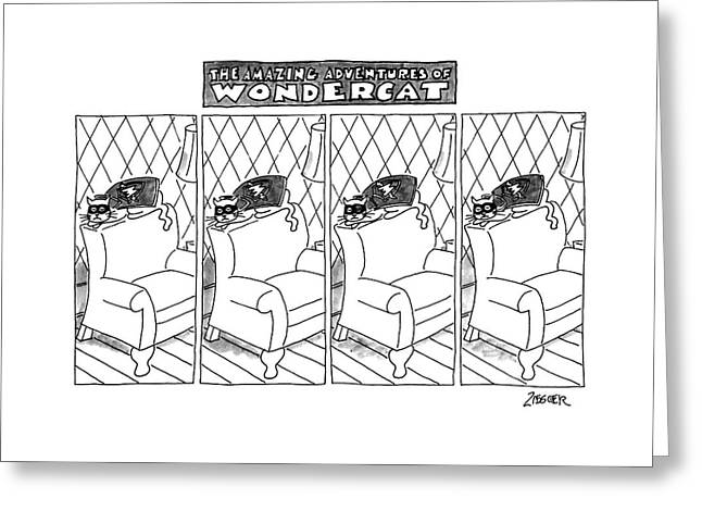 The Amazing Adventures Of Wondercat Greeting Card