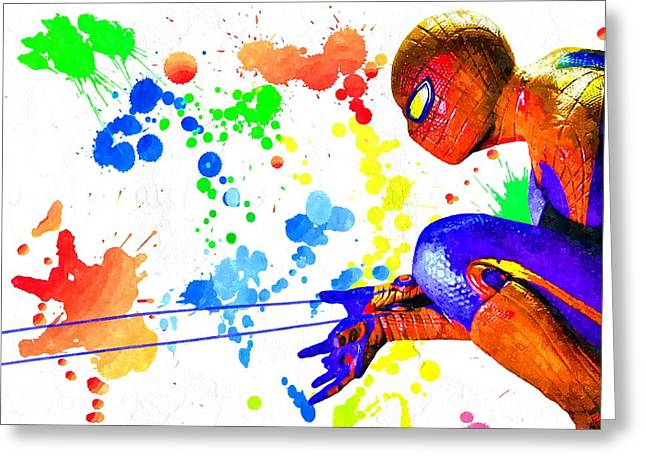 The Amazing Spider-man Watercolor Greeting Card