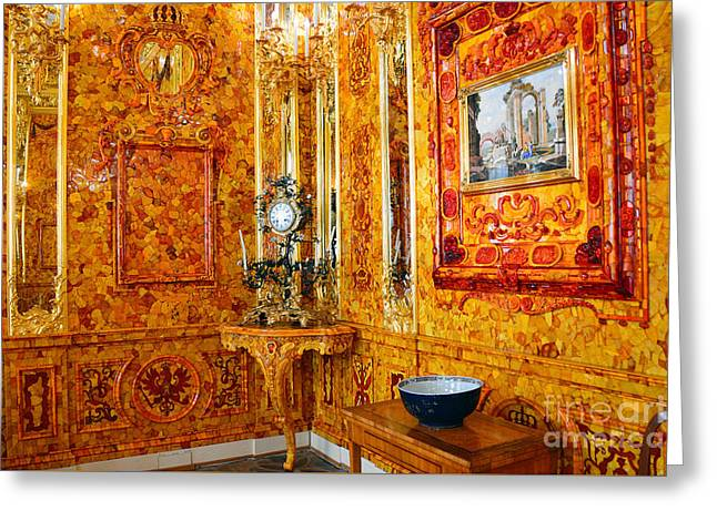 The Amber Room At Catherine Palace Greeting Card