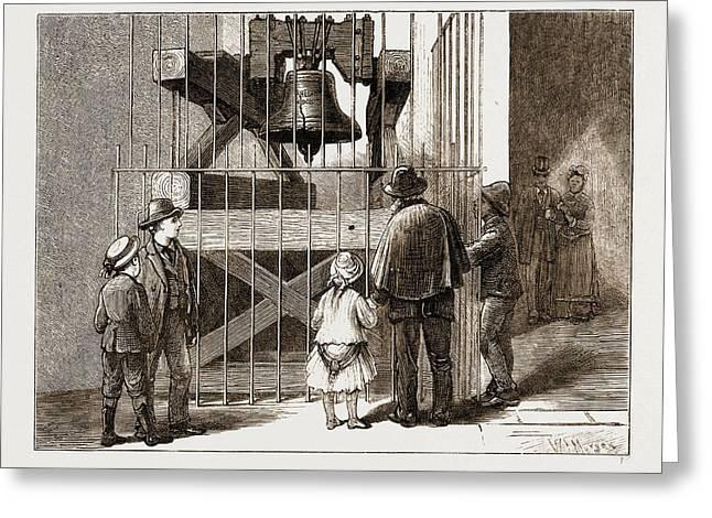 The American Centennial Exhibition, 1876 Liberty Bell Greeting Card by Litz Collection