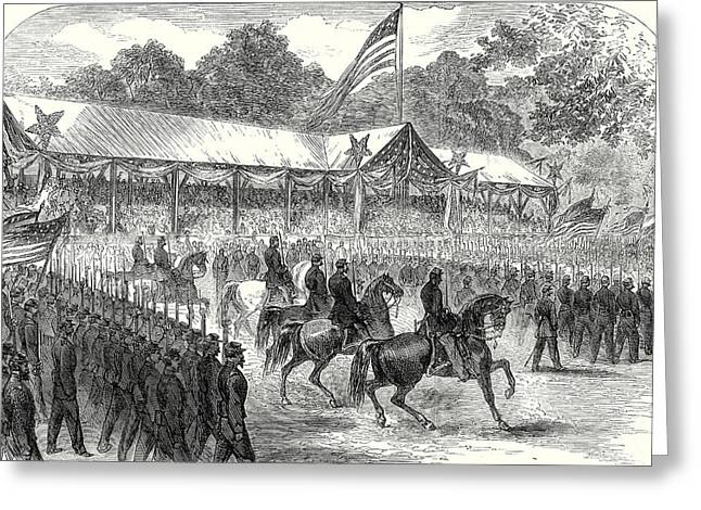 The American Civil War Grand Review Of The Army Greeting Card by American School
