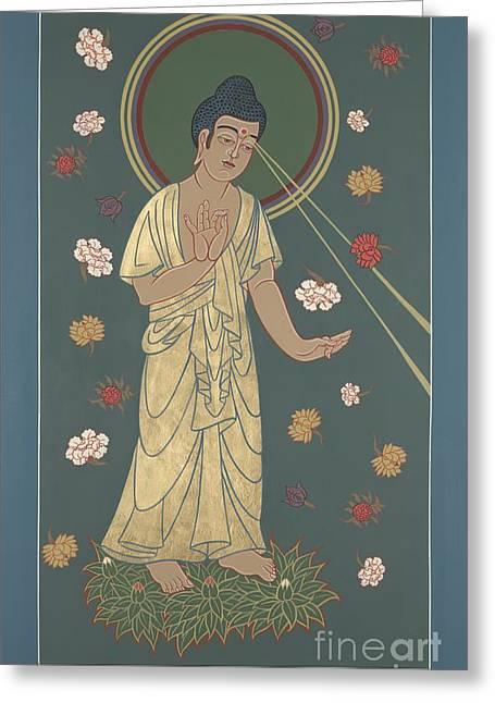 The Amitabha Buddha Descending 247 Greeting Card